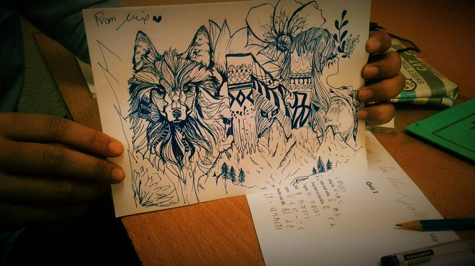 A Wolf of Silent - To my tablemate at school ~ by mx1910