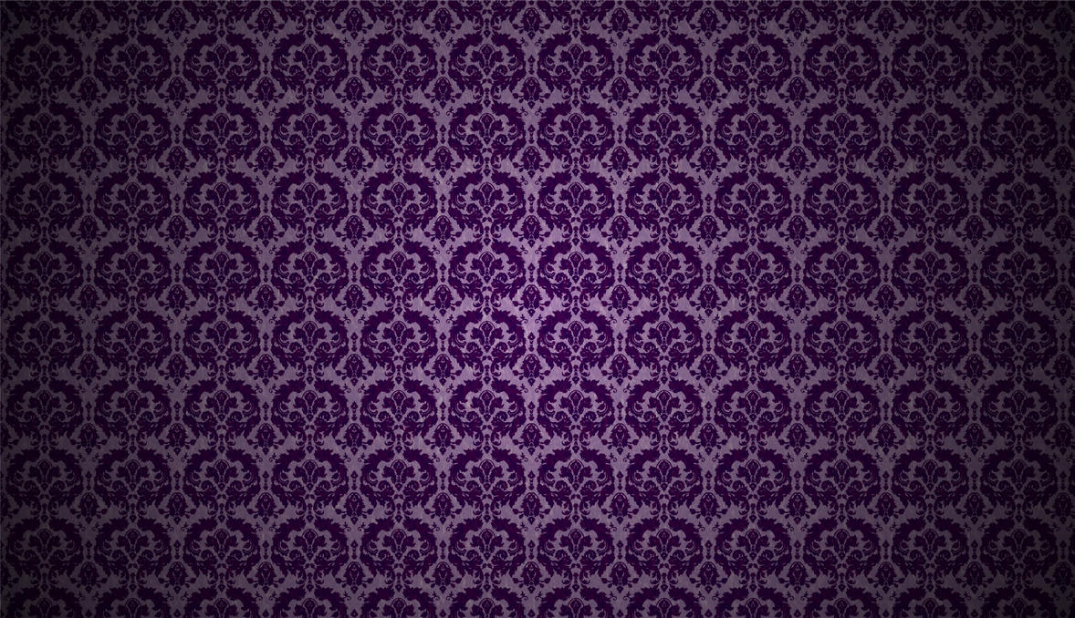 Purple Foil Damask Wallpaper By MT Schorsch