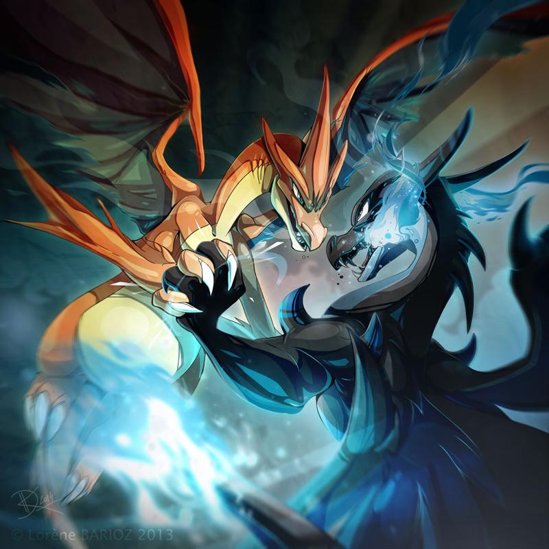 Mega Charizard X and Y by Dragibuz on DeviantArt