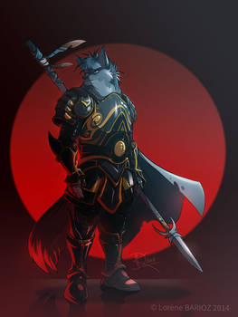 Anzel the wolf knight -[ Commission ]-