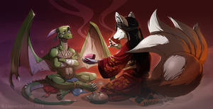 Drako and Nyx (Commission)