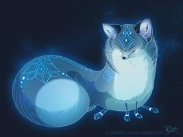 Blue Fox Spirit Style by Dragibuz