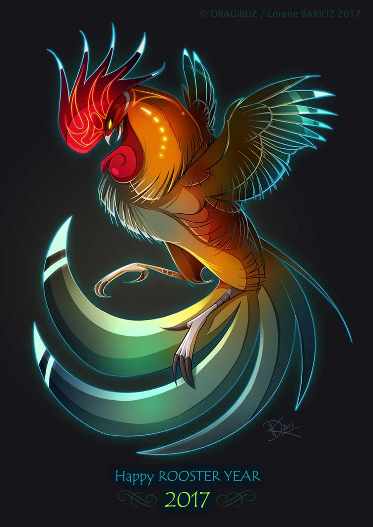 happy rooster year by dragibuz on deviantart