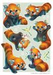 Red Panda Sticker sheet