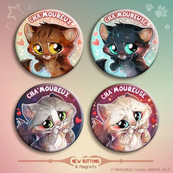 Chamoureux Buttons and Magnets Set by Dragibuz