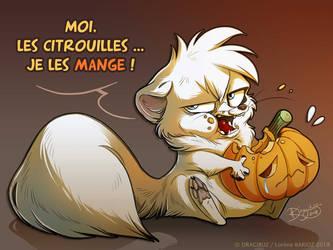 Pumpkins ? I'll eat them all ! by Dragibuz
