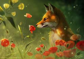 Foxy Flowers by Dragibuz