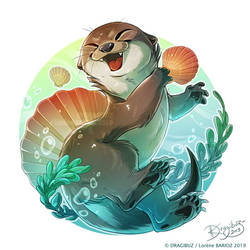 Otter Playing by Dragibuz