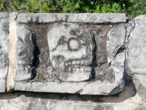 Skull wall close-up