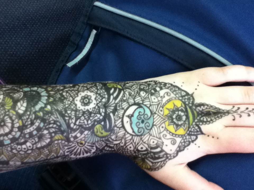 Henna pattern arm 2 by spirit0407 on deviantART