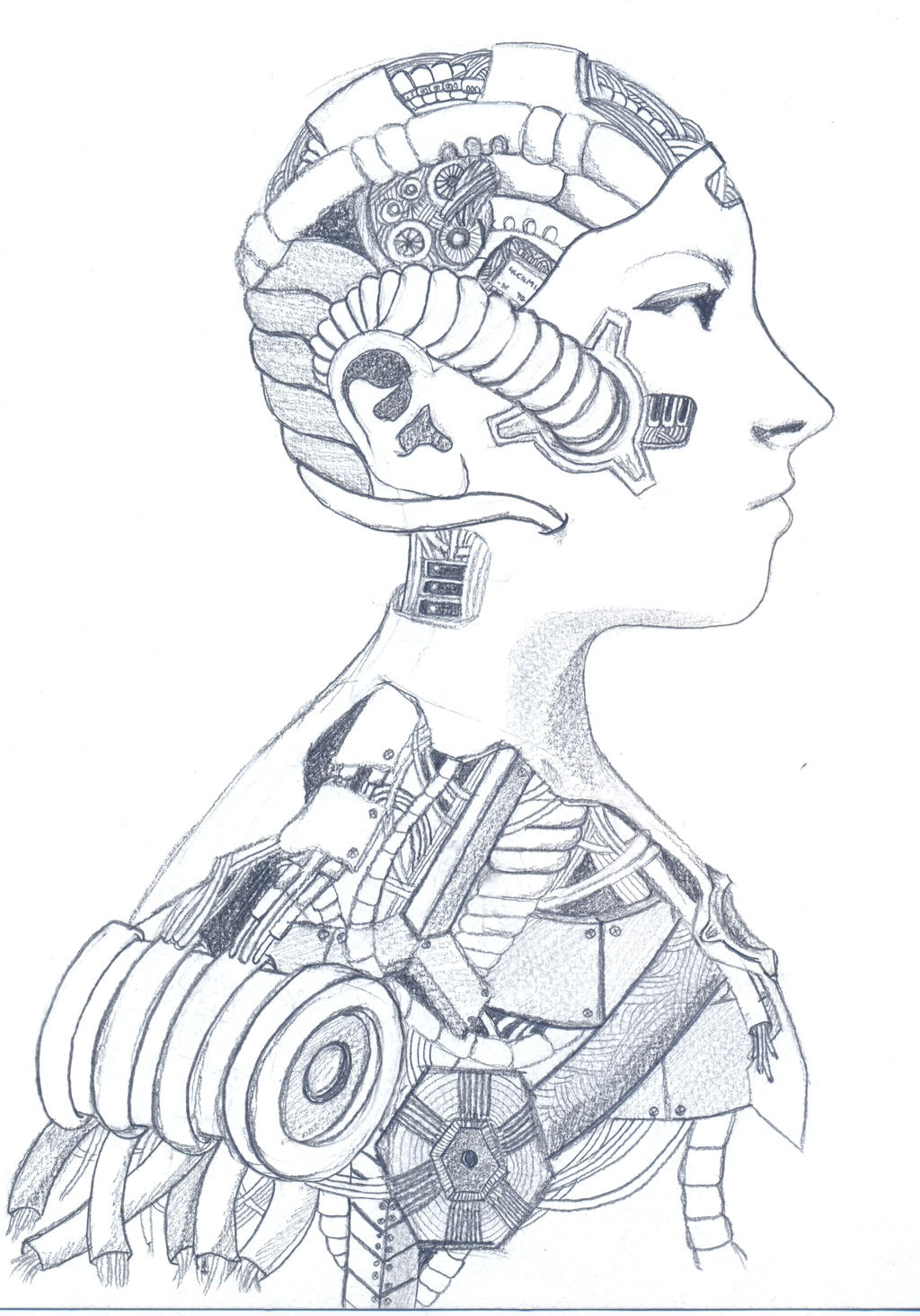 Cyborg sketchdoodle 1 ...