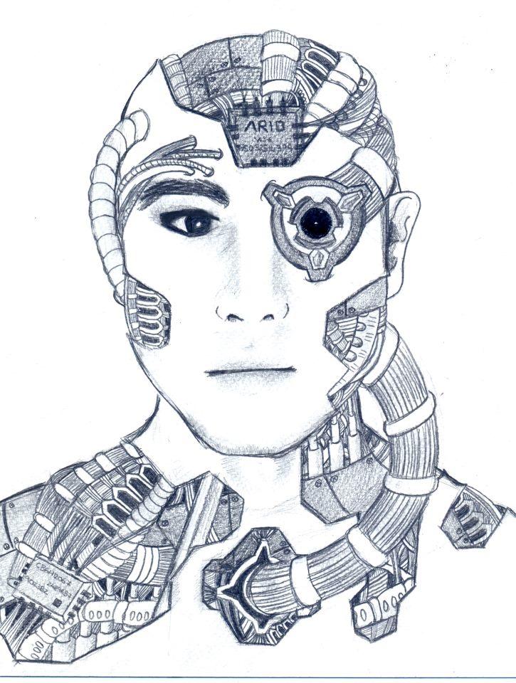 Cyborg sketchdoodle 4 ...