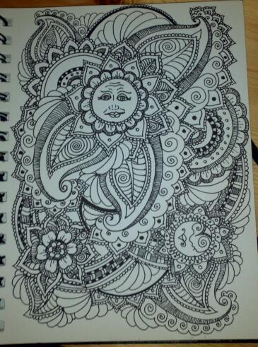 henna drawing the flowered sun by spirit0407 on deviantart