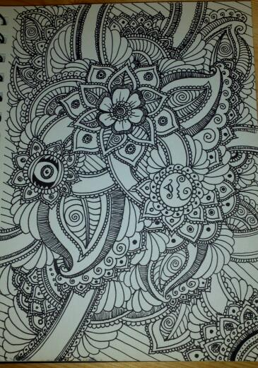 Henna Drawings: Combined 2 By Spirit0407 On DeviantArt