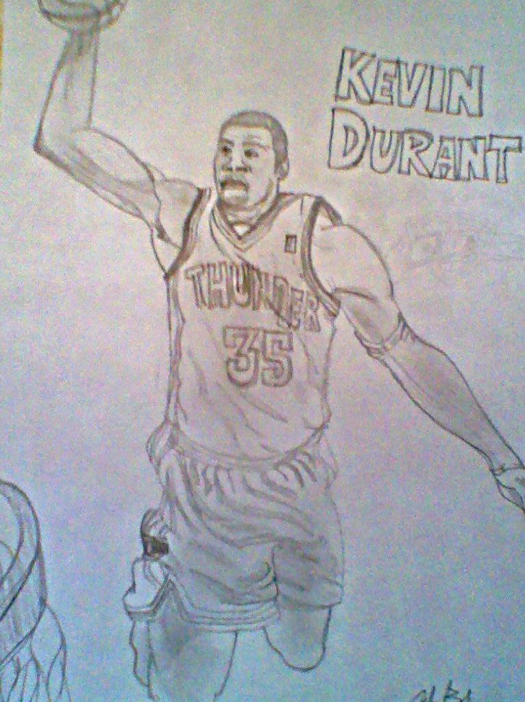 Kevin Durant Drawing Kevin Durant by Andedavinci95