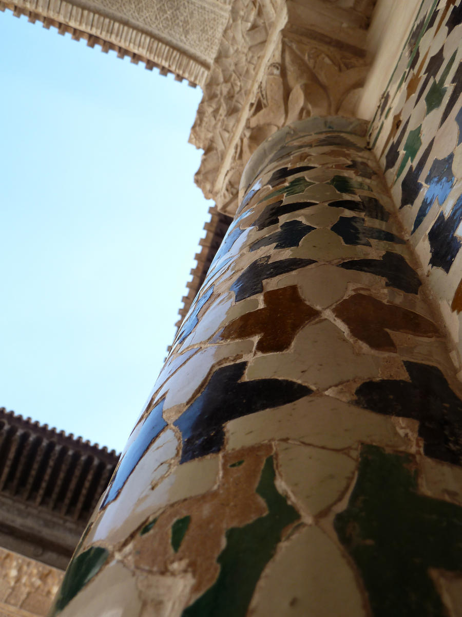 Column in La Alhambra by GrangerDanger44