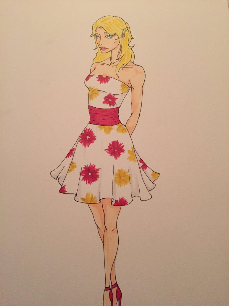 Flower dress by Dreamis-Coldiron