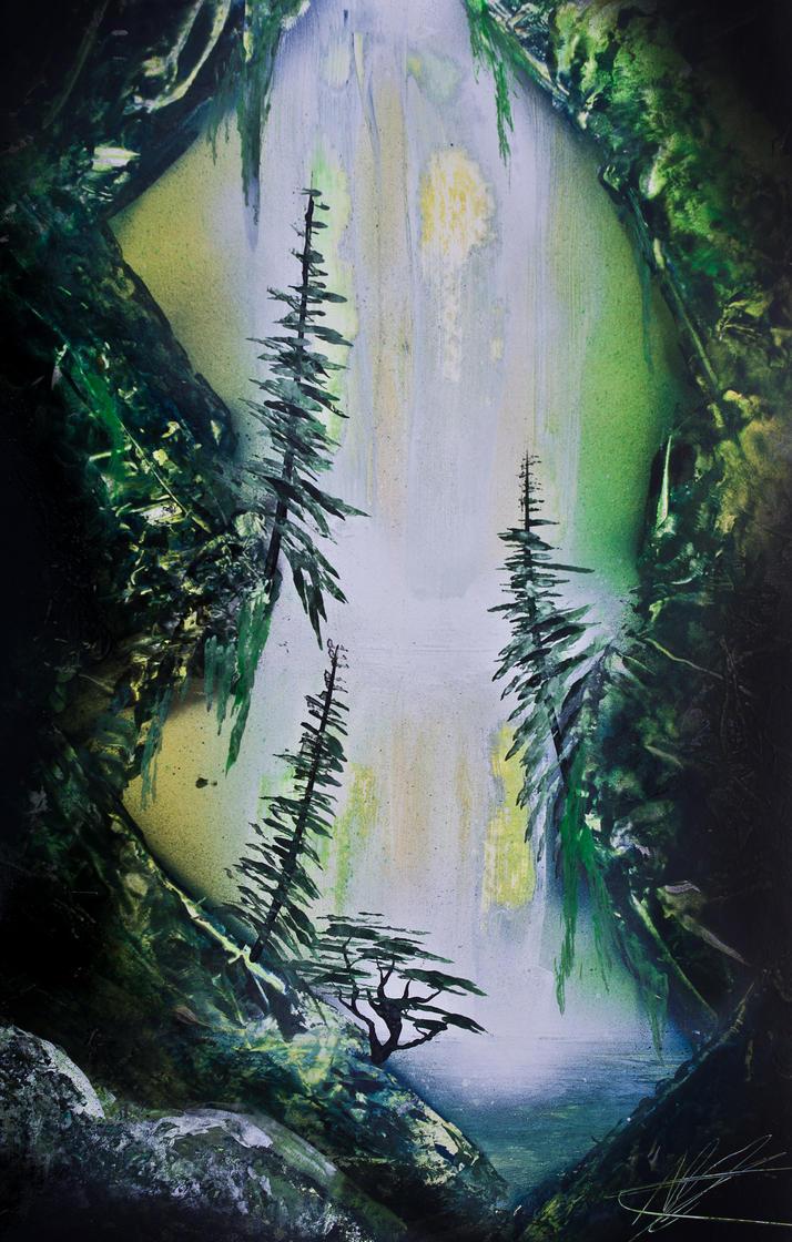 Jungle Waterfall by mhummelt