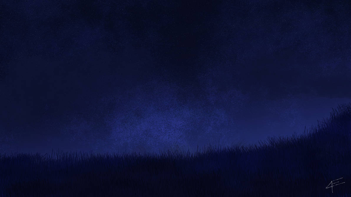 Night Sky background~ DeployerfullGeek first draw. by DeployerfullGeek