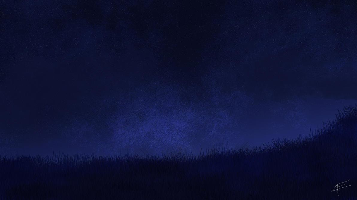 Night Sky background~ DeployerfullGeek first draw. by DeployerfullGeek