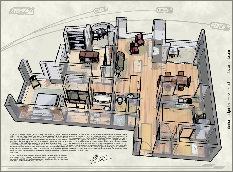 3d of apartment floor by art176