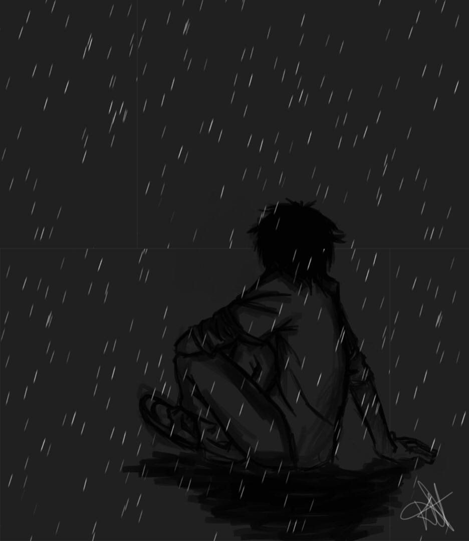 Alone Boy In Love Sad In Rain – images free download