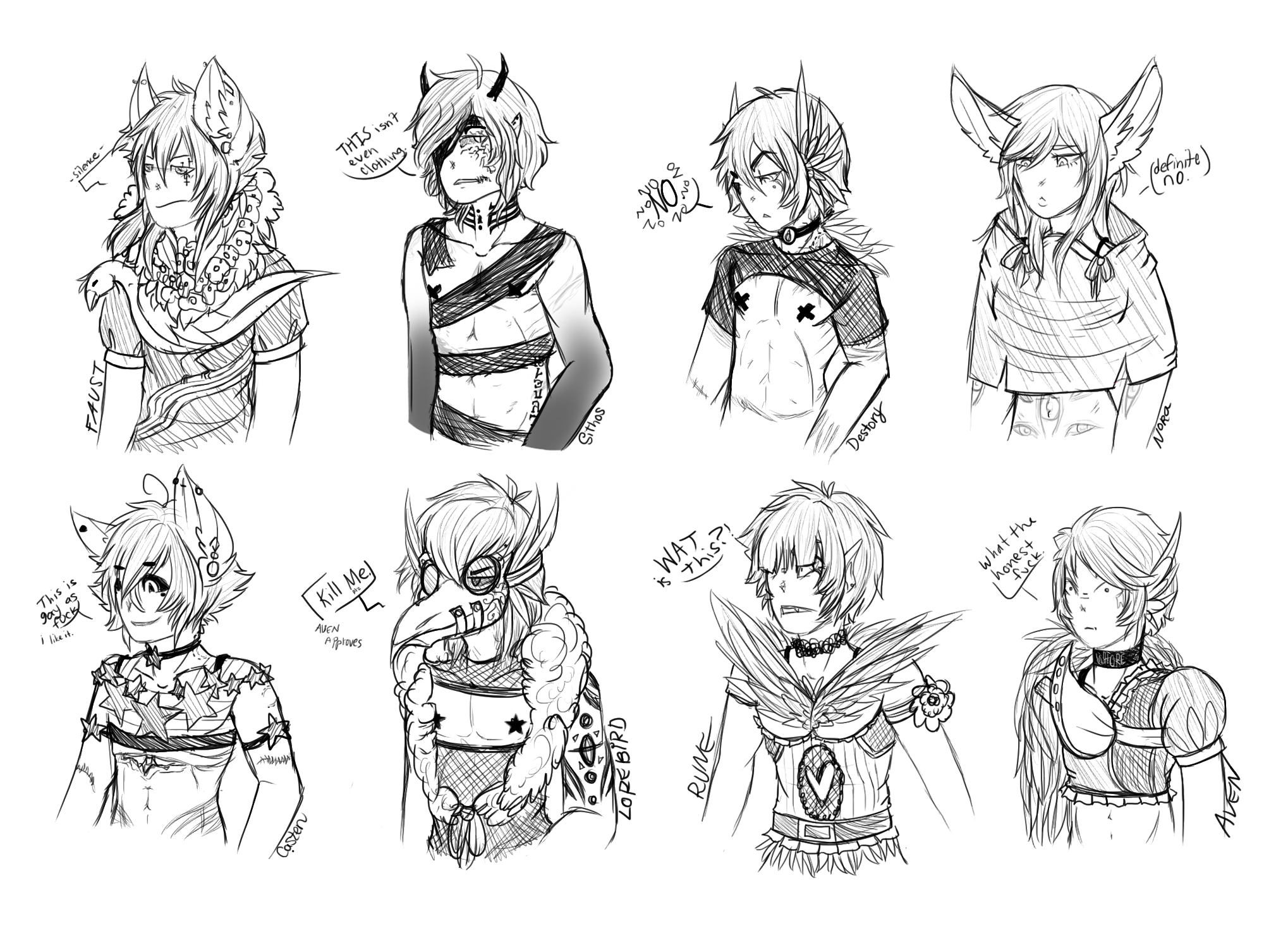[Doodle] Nonsense Fashion by Gothamed
