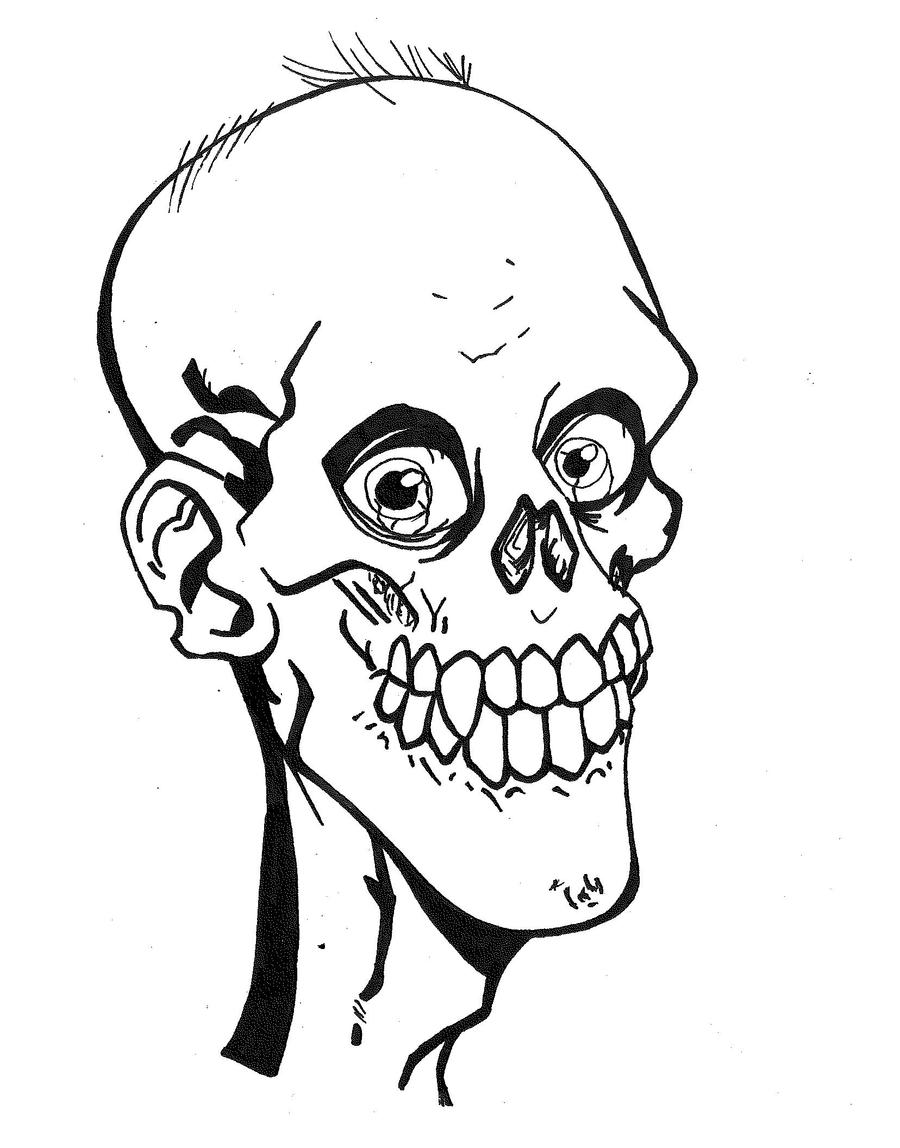 Zombie Face Line Drawing : Bob the happy zombie by mokheir on deviantart