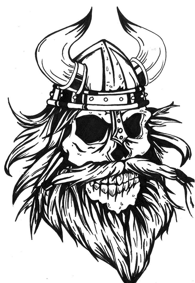 viking skull tattoo design by mokheir35 on deviantart. Black Bedroom Furniture Sets. Home Design Ideas