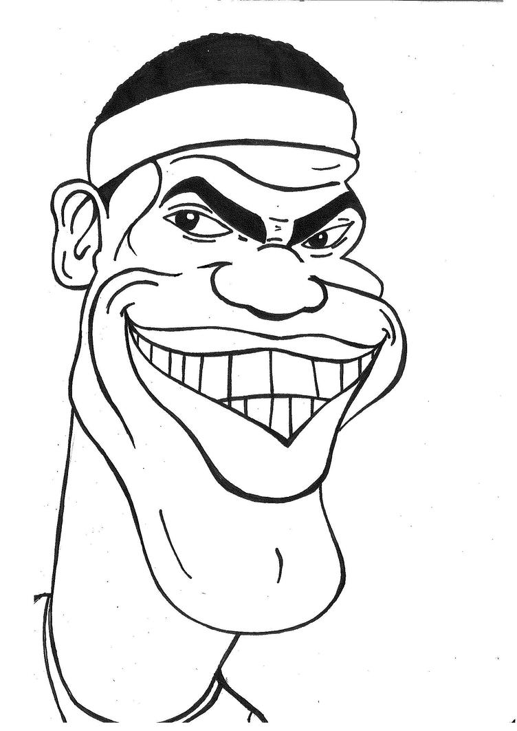 Lebron James Caricature By Mokheir35 On Deviantart Lebron Coloring Pages