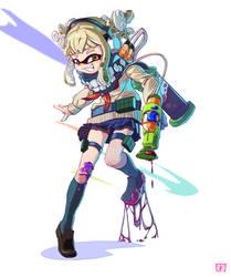 Himiko Toga x Splatoon by AzouraArt