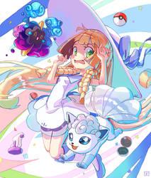 Pokemon Lillie by AzouraArt