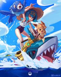 Pokemon Lana by AzouraArt