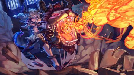 Art War 3 Laela Illustration by AzouraArt