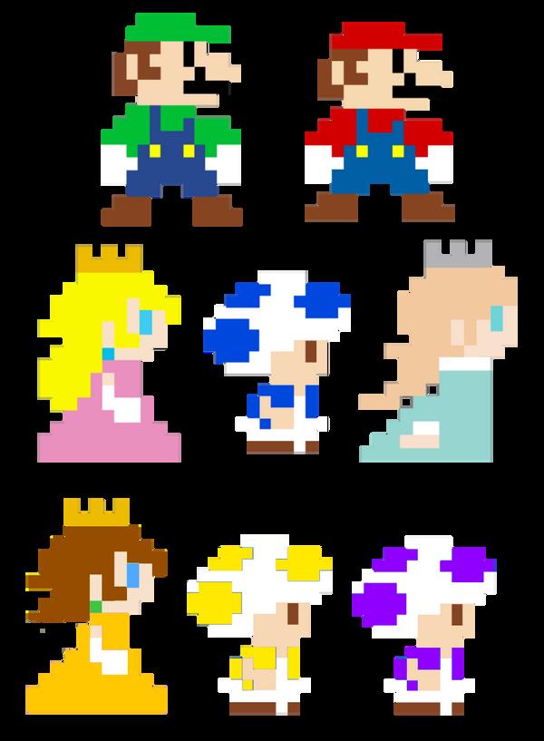 Super Mario Bros Pixel Art Characters By Joshuat1306 On Deviantart