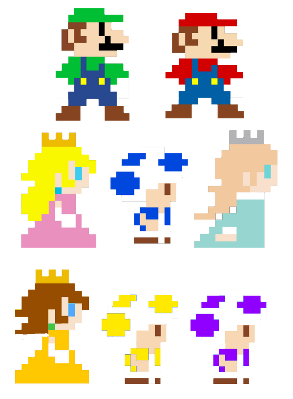 Super Mario Bros Pixel Art Characters By Joshuat1306 On