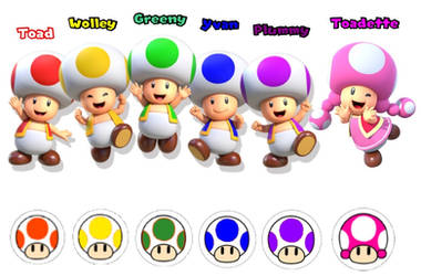 Super Mario: Toads The Mushroom Citizens by Joshuat1306
