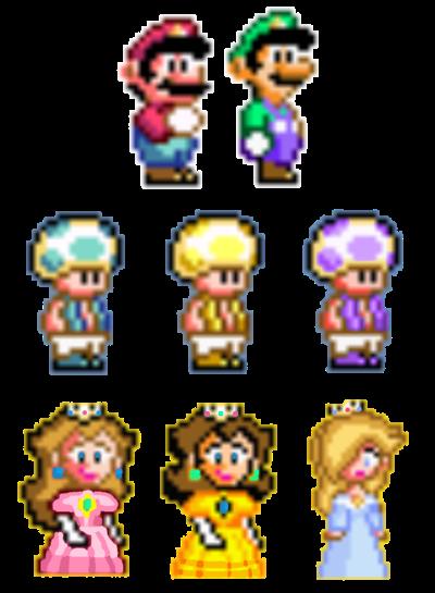 Super Mario Bros Smw Pixel Art Characters By Joshuat1306 On