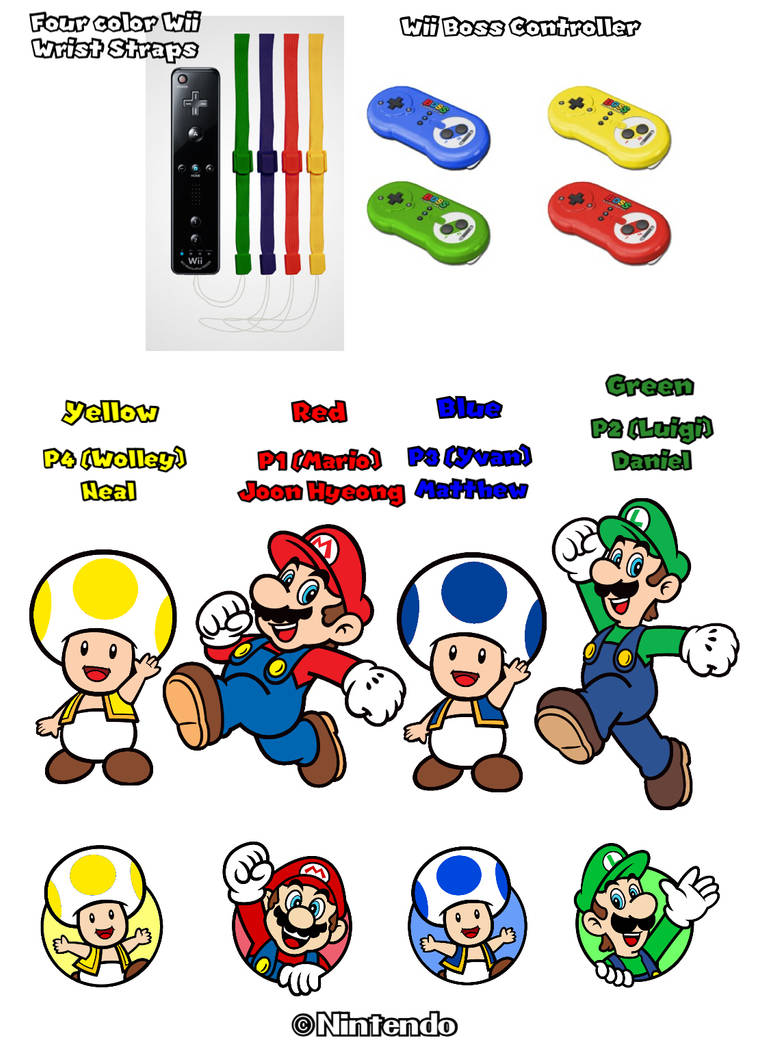 New Super Mario Bros  4 players for my friends by