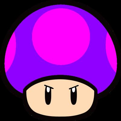 Super Mario Poison Mushroom 2d By Joshuat1306 On Deviantart