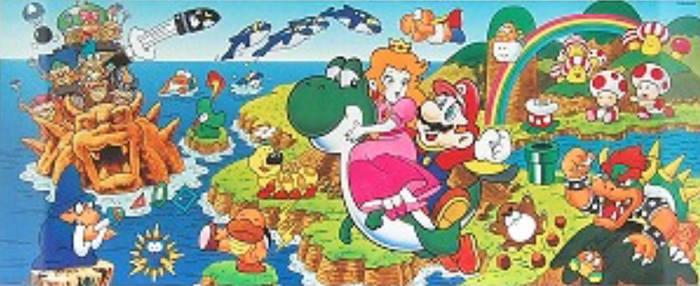 Super Mario World 1991 Artwork