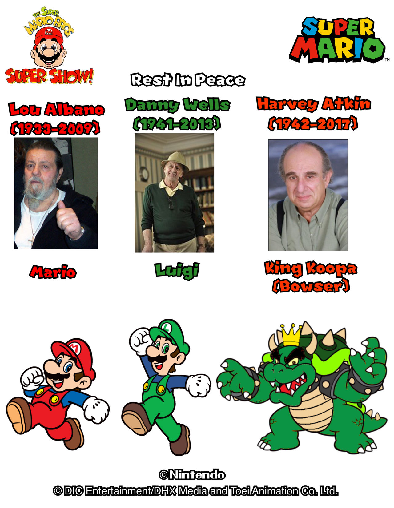 Super Mario Bros Super Show 3 Deceased Voices By Joshuat1306 On