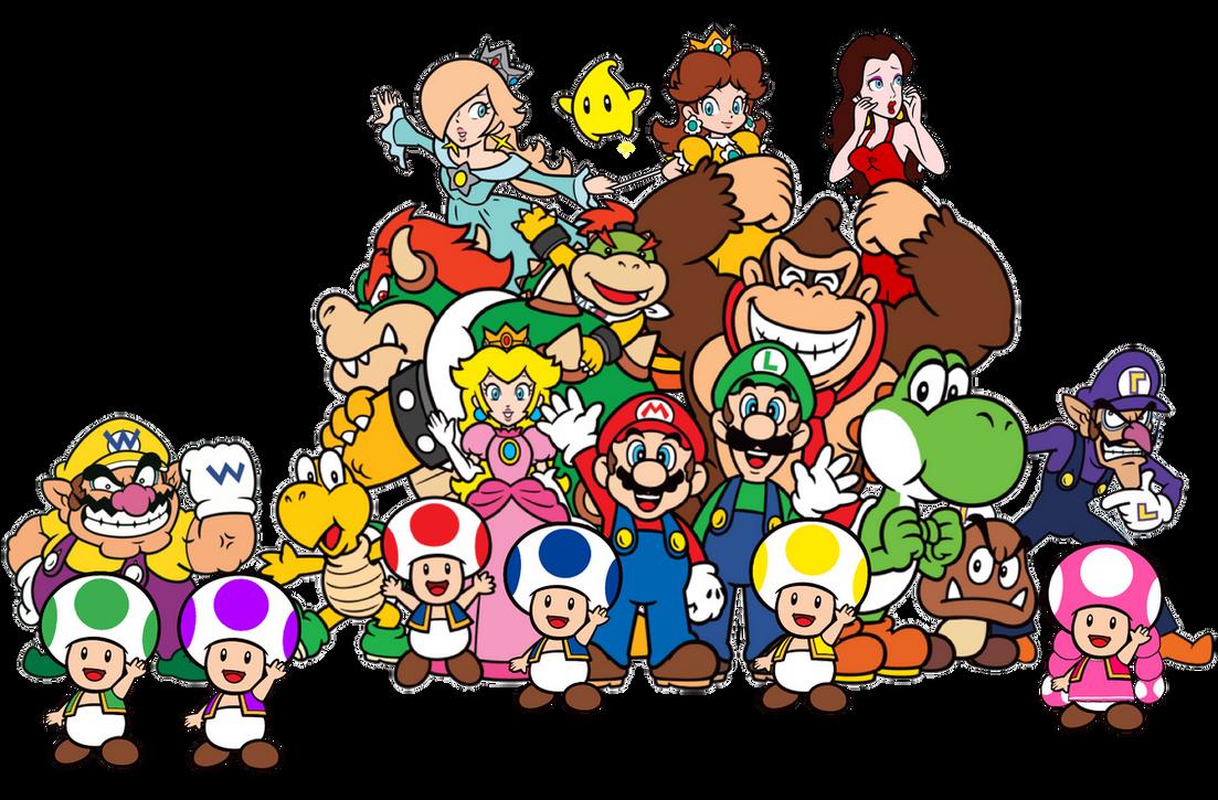 Super Mario Mushroom Heroes 2d By Joshuat1306 On Deviantart