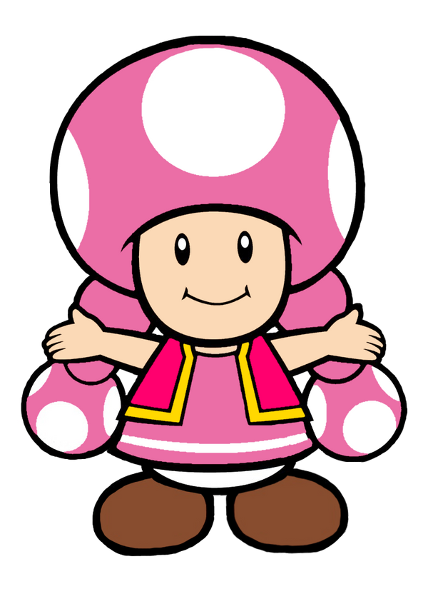 Super Mario: Toadette Happy Pose 2D by Joshuat1306 on ...
