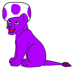 Super Mario: Lion Cub Plummy the Purple Toad 2D by Joshuat1306