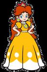 Super Mario: SMB3/SMW Art Princess Daisy 2D