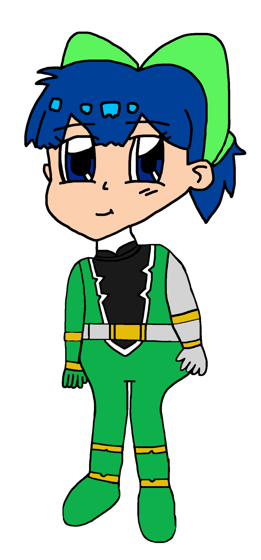 Milly as Green Dino Fury Ranger