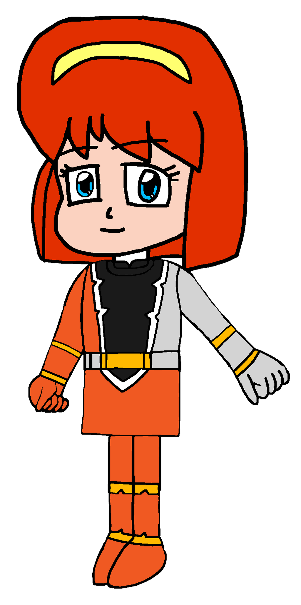 Yuri as Orange Dino Fury Ranger