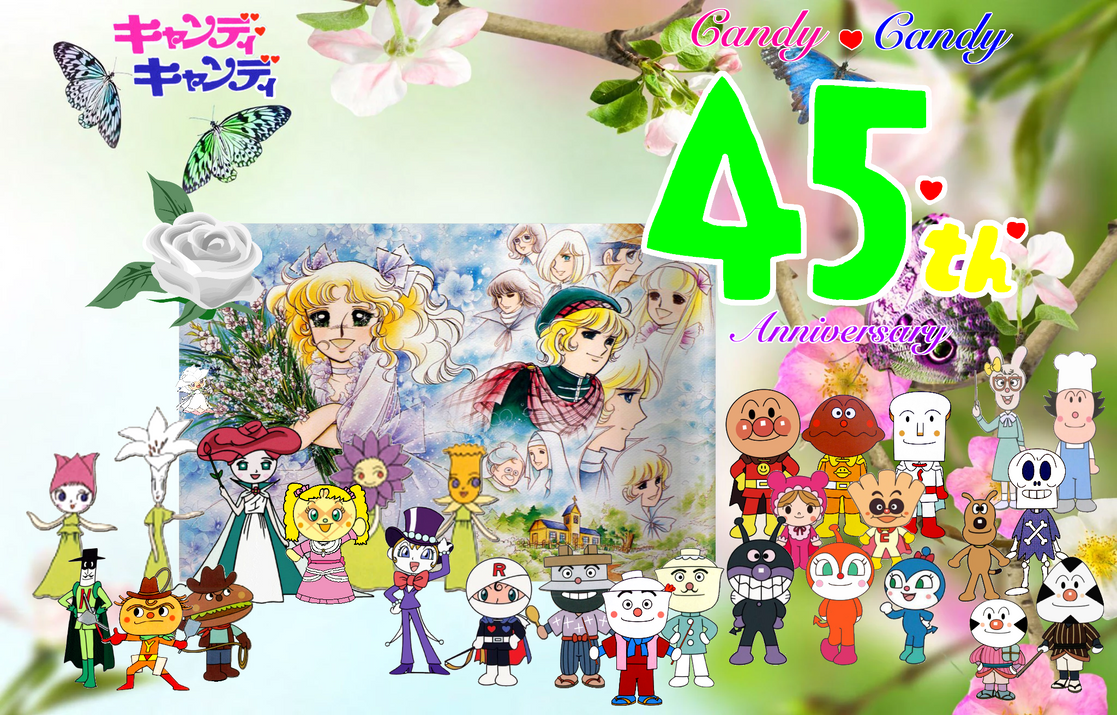 Happy 45th Anniversary Candy Candy Card