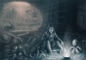 Nuclear winter Katie Zaitseva and Zina Semechkin by Lelyk777